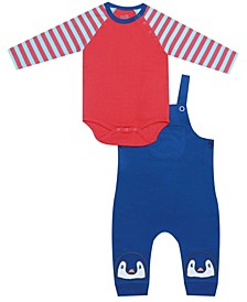 earth by Organic Baby Boy 2-Piece Jack Overall Set