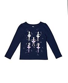 Toddler Girls Long Sleeve Graphic Tee