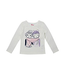 Little Girls Long Sleeve Graphic Tee