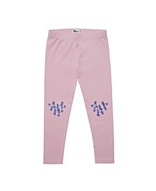 Little Girls Ruched Knee Graphic Legging