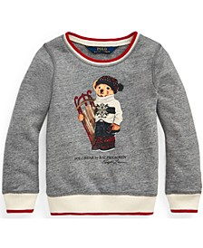 Toddler Girls Sled Bear Atlantic Terry Sweatshirt