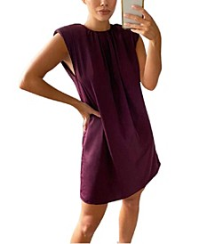 Women's Shoulder Padded Shift Dress