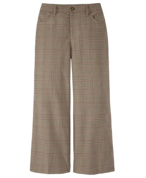 Women's Military-Inspired Plaid Cropped Pant