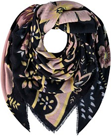 Kitchy Women's Floral Square Scarf