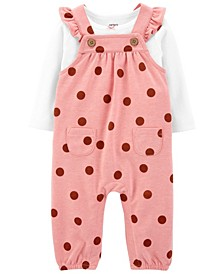 Baby Girls 2-Piece Tee and Coverall Set