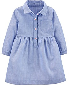 Baby Girls Chambray Woven Dress