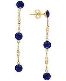EFFY® Dyed Jade Linear Drop Earrings in 14k Gold (Also in Lapis Lazuli)
