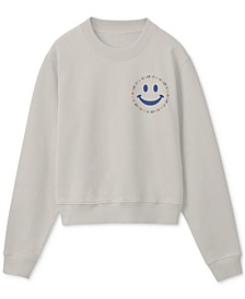 Juniors' Grateful Smiley Long-Sleeve T-Shirt