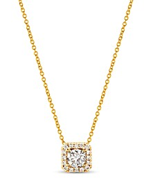 "Nude™ Diamond Halo 20"" Pendant Necklace (3/8 ct. t.w.) in 14k Rose Gold or 14k Yellow Gold"