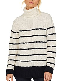 Longshore Striped Cable-Knit Sweater