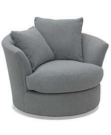 Gympson Fabric Swivel Chair, Created for Macy's