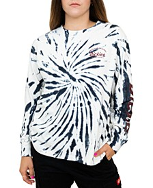 Juniors' Tie-Dyed Long-Sleeved T-Shirt