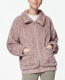 Women's Ultra Soft Faux Fur Patch Pocket Jacket