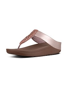 Women's Sparklie Crystal Toe Post Sandal