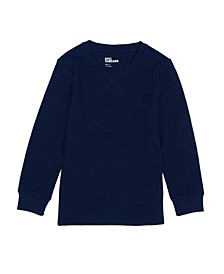Little Boys Long Sleeve Crew Neck Basic Solid Thermal