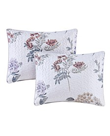 Zinnia Set of Two Quilted Euro Pillows