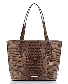 Medium Misha Melbourne Embossed Leather Tote