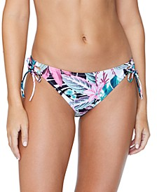 Juniors' Haute Bloom Printed Tie-Side Bikini Bottoms
