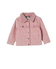 Little Girls Jessie Cord Sherpa Jacket
