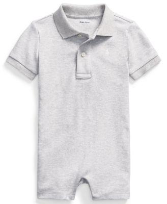폴로 랄프로렌 Polo Ralph 로렌 랄프로렌 Lauren Ralph Lauren Baby Boys Cotton Interlock Polo Shortall,Andover Heather