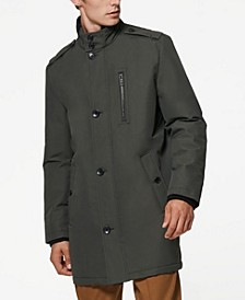 Cullen Oxford Men's Twill Military Inspired Style Coat with Rib Detail