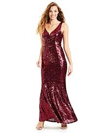Juniors' Mermaid Sequin Gown