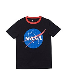 Big Boys Short Sleeve NASA Text Tee
