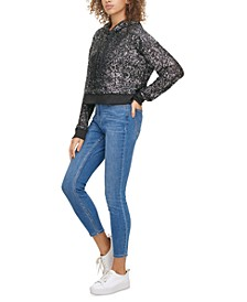 Sequin Pullover Hoodie