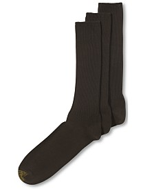 Gold Toe® Cotton Casual 3 Pack Extended Size Men's Socks