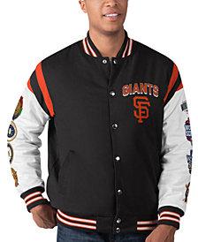 G-III Sports Men's San Francisco Giants Commemorative Goal Varsity Jacket