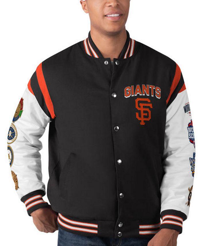 G-III Sports - Men's San Francisco Giants Commemorative Goal Varsity Jacket