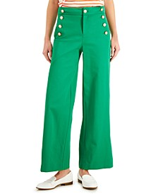 Wide-Leg Sailor Pants, Created for Macy's