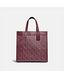 Horse and Carriage Coated Canvas Field Tote