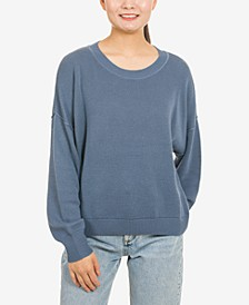 Juniors' Drop-Shoulder Sweater