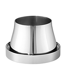 Terra Stainless Steel Pot and Saucer, Small