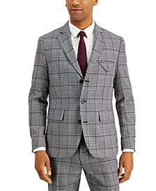 INC Men's Carter Slim-Fit Plaid Blazer, Created for Macy's
