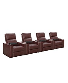 Thomas Power Faux Leather Recliner, Set of 4