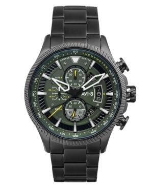 Men's Hawker Hunter Avon Chronograph Graphite Green with Black Tone Stainless Steel Bracelet Watch