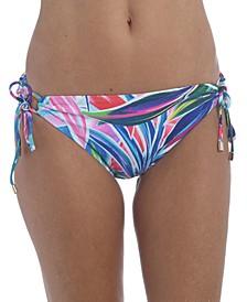 Printed Adjustable Hipster Bikini Bottoms