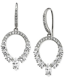 Silver-Plated Cubic Zirconia Open Drop Earrings, Created for Macy's