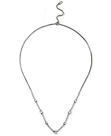 "Cubic Zirconia Bar Statement Necklace, 16"" + 2"" extender, Created for Macy's"