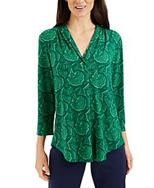 Paisley Surplice Top, Created for Macy's