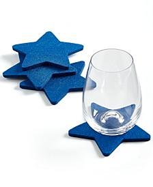 Star-Shaped Felt Coasters, Set of 4, Created for Macy's