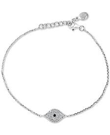 EFFY® Diamond Evil Eye (1/6 ct. t.w.) Bracelet in Sterling Silver