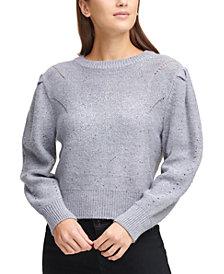 DKNY Embellished Snowflake Sweater