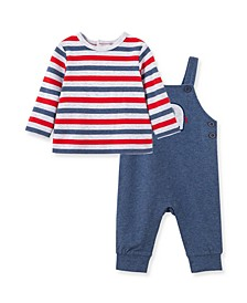 Baby Boys Elephant Overall Set