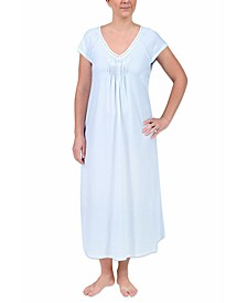 Plus Size Long Printed Knit Nightgown