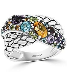 EFFY® Multi-Gemstone Crossover Statement Ring (2 ct. t.w.) in Sterling Silver