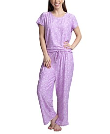 Lace-Trim Printed Pajama Set
