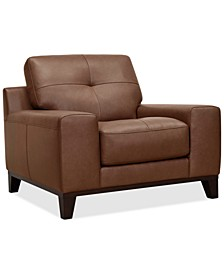 Harli Leather Accent Chair, Created for Macy's